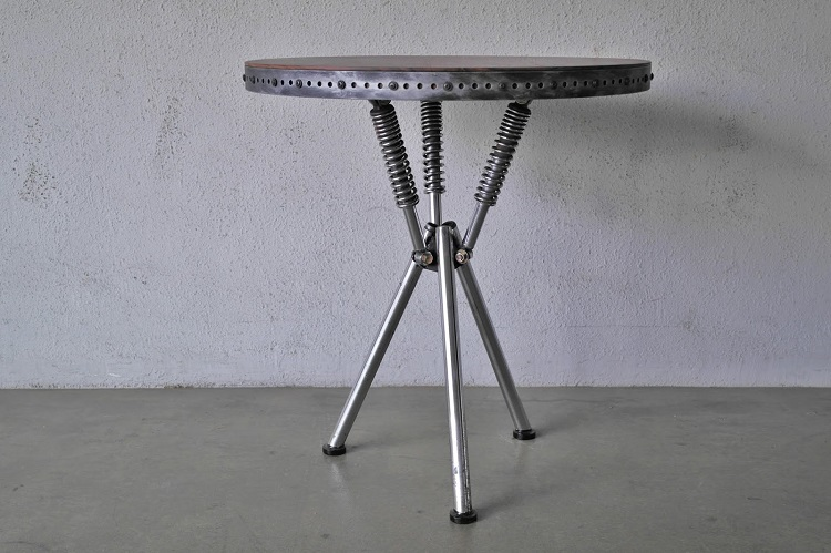 Upcycled Motorcycle Salvage - Shock Table Classified Moto