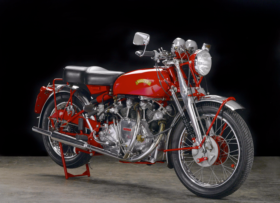 Vintage Motorcycles - Vincent White Shadow Red