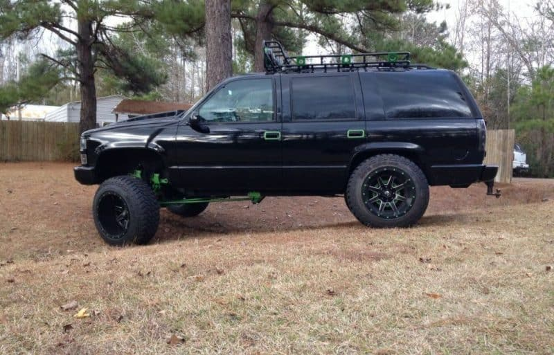 black green chevy tahoe 1996 lifted