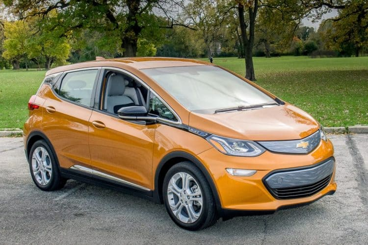 Future Hybrid Cars 2019 - Chevrolet Bolt 3/4 view