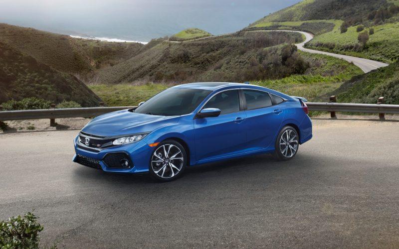 Honda Civic sedan three quarter view