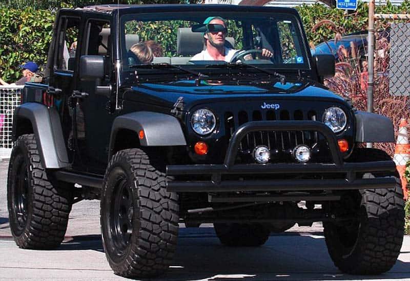 David Beckham Jeep Wrangler