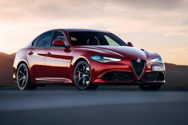 Best Mid-Size Sedan 2019 - Alfa Romeo Giulia Quadrifoglio three quarter view