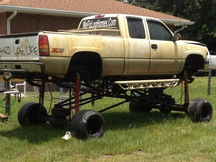 Lifted Chevy With Small Wheels