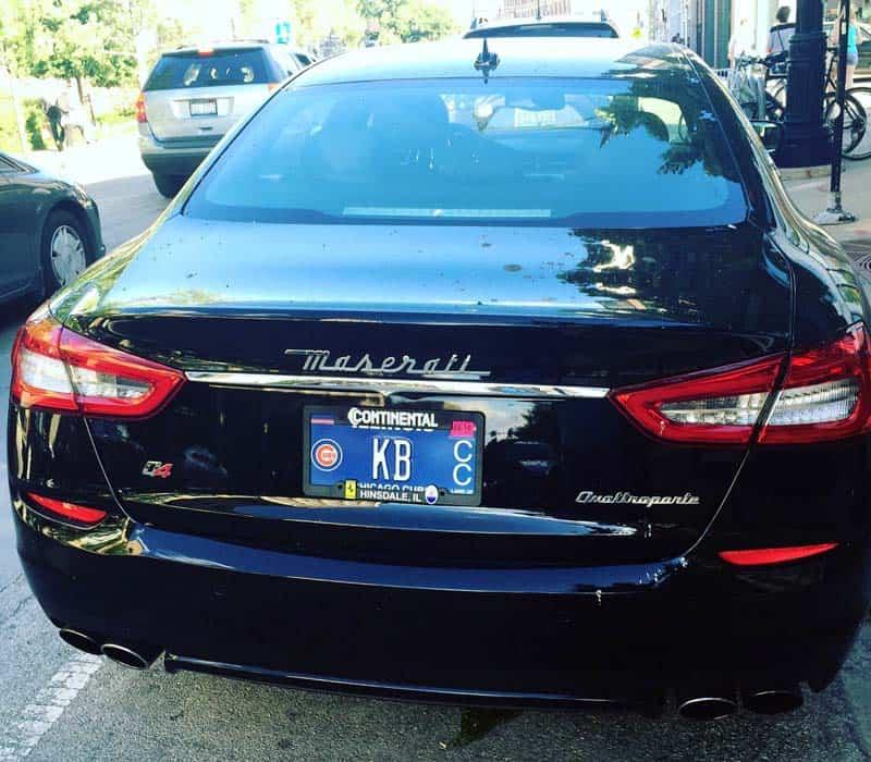 Kris Bryant Maserati Quattroporte