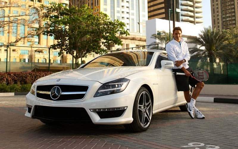Roger Federer Mercedes Benz CLS