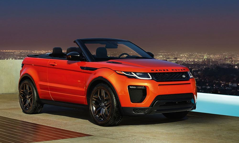 19 Range Rover Evoque convertible SUVs