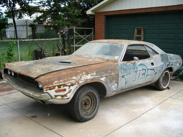 Dodge Challenger Barn Find