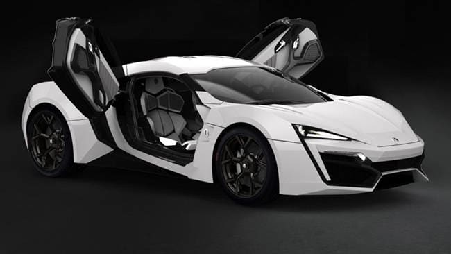 Exclusive hot cars include the Lyken HyperSport