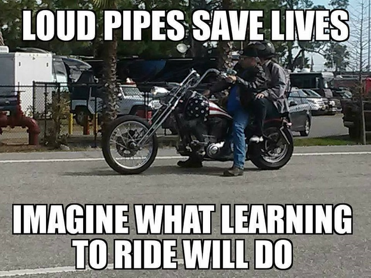 Motorcycle School - Loud Pipes Save Lives? Do They?