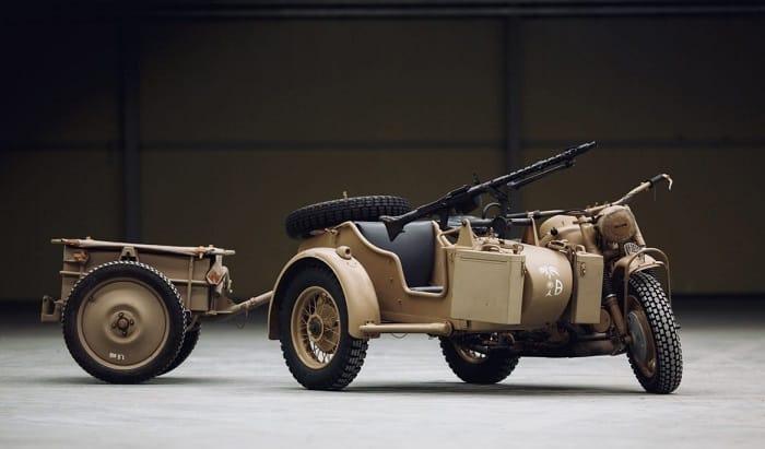 WW2 Motorcycle Sidecar - BMW R75