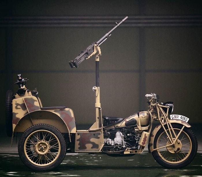 WW2 Motorcycle Sidecar - Moto Guzzi Trialce