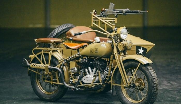 WW2 Motorcycle Sidecar - Rikuo 1