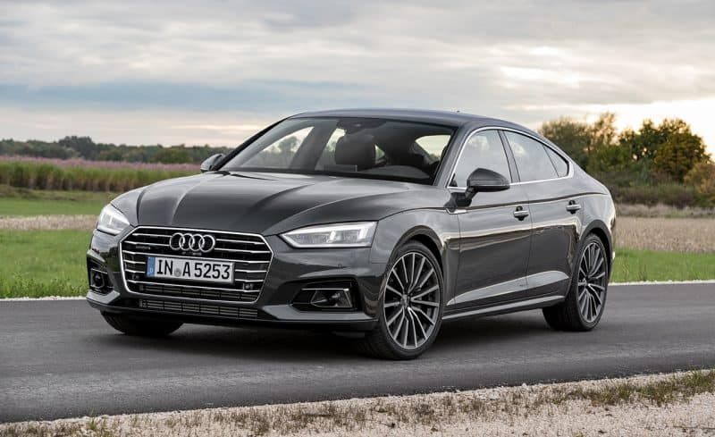Best Small Cars 2019 - Audi A5 Sportback front 3/4 view