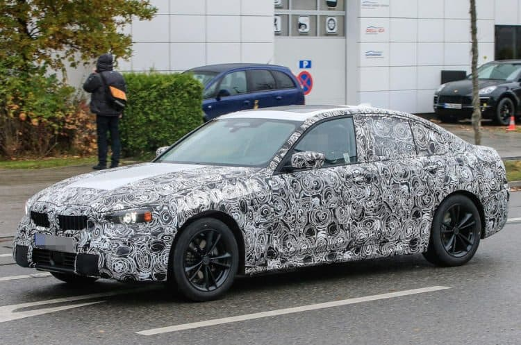 Best Small Cars 2019 - 2019 BMW 3 Series test mule 3/4 view