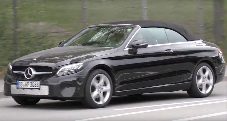 Best Small Cars 2019 - 2019 Mercedes-Benz C Class convertible test mule 3/4 view