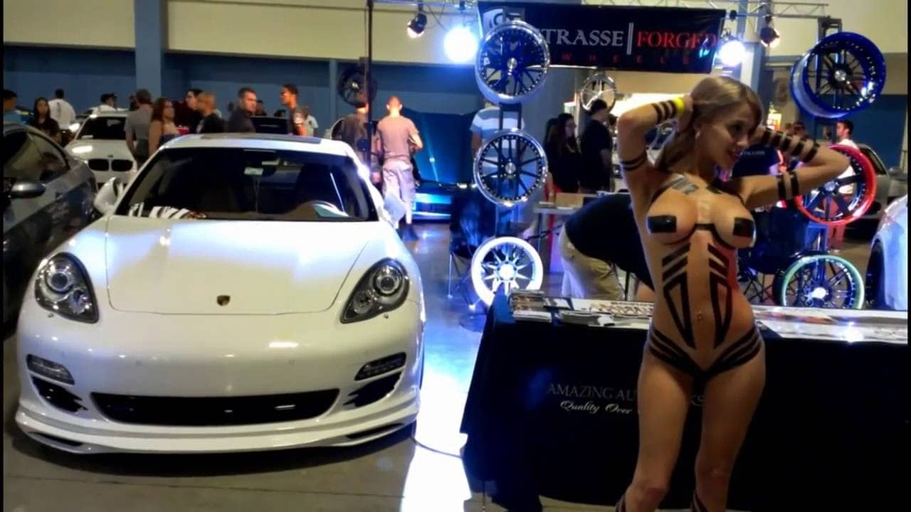 Mostly nude hot car girls make the world go round.