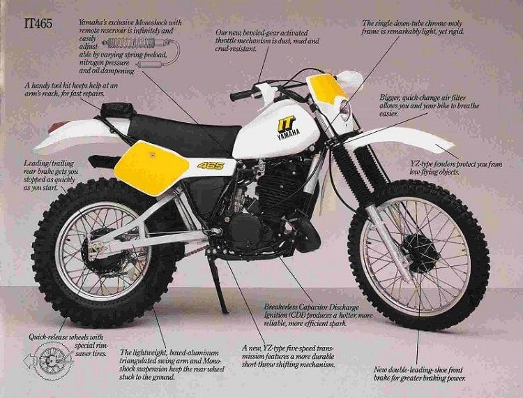 1. Yamaha Dirt Bikes - Yamaha IT465 PR 2