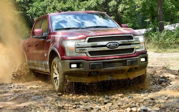 2018 Ford F-150 in mud