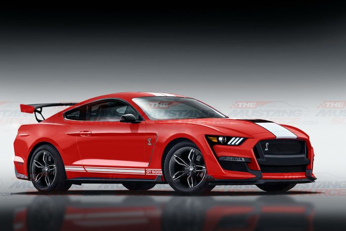 Shelby GT500 Render Front 3/4