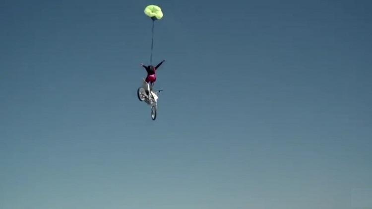 Craziest Motorcycle Stunts - Base Jump