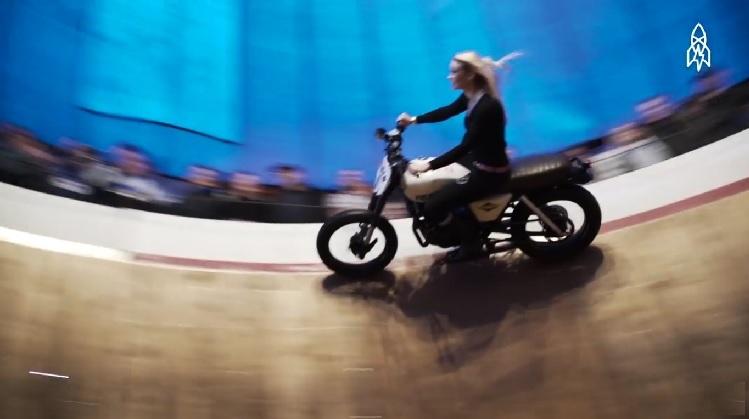 Best Motorcycle Stunts - Kerri Cameron Wall Of Death