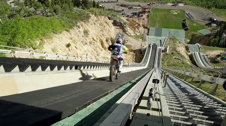 Best Motorcycle Stunts - Robbie Maddison Ski Jump