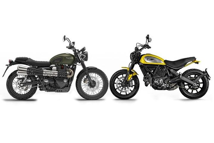 Scrambler Motorcycle - Modern