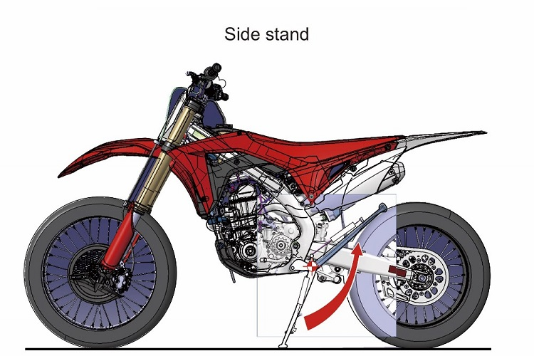 Street Legal Dirt Bike - Side Stand