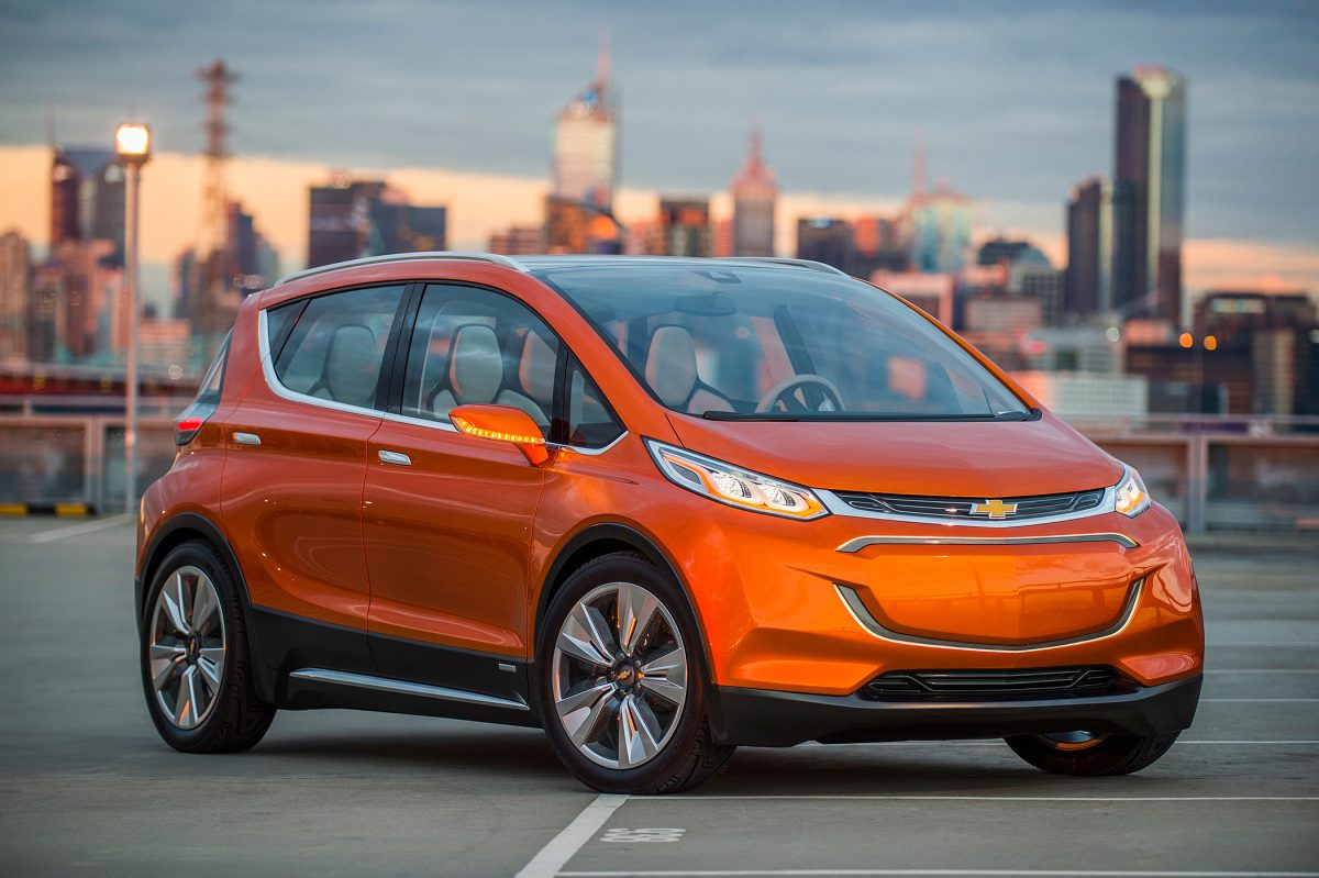 2019 Chevy Lineup - Chevrolet Bolt 3/4 view