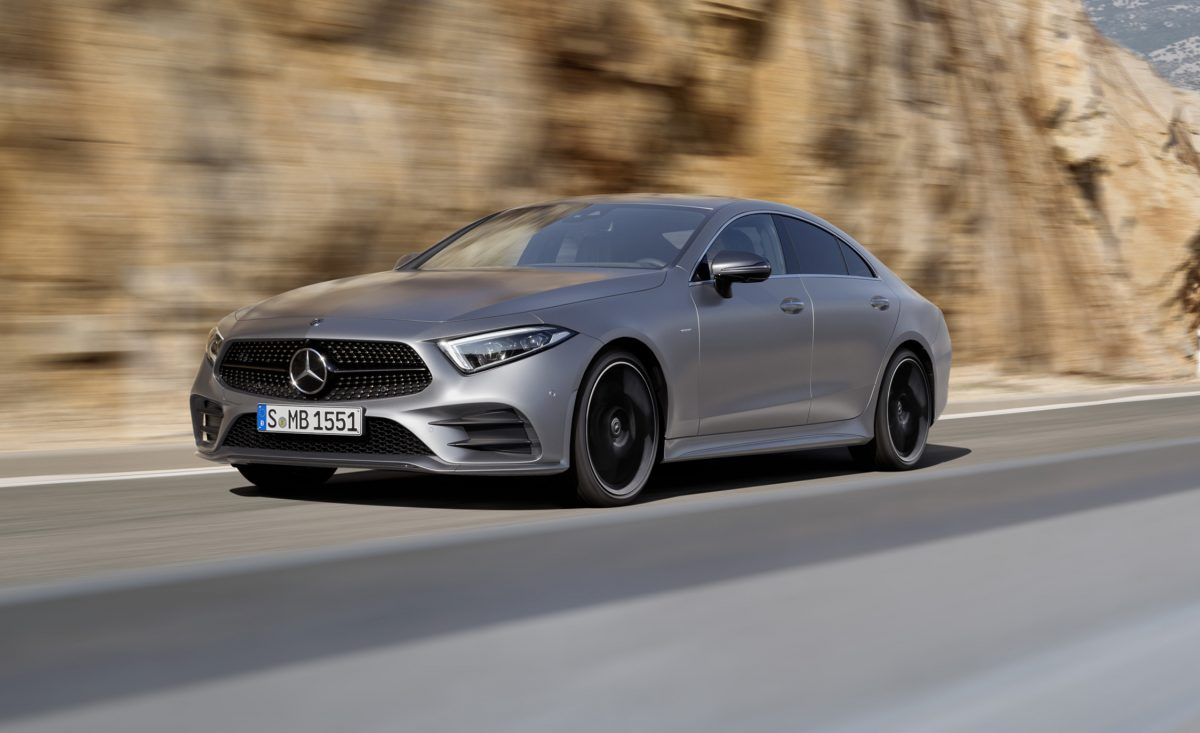 Upcoming Mercedes-Benz 2019 - CLS Class coupe 3/4 view