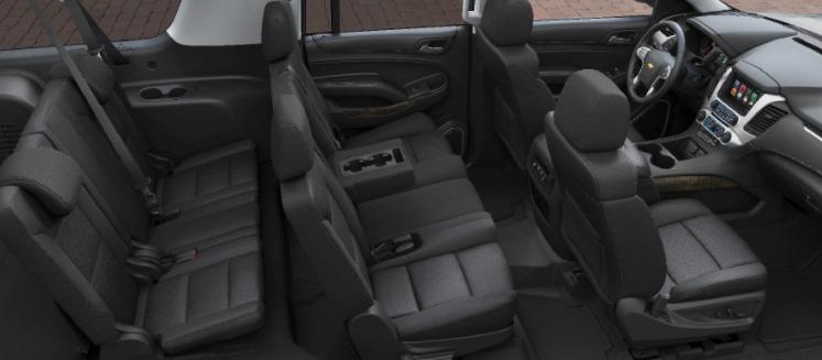 Chevy Suburban eight passenger configuration