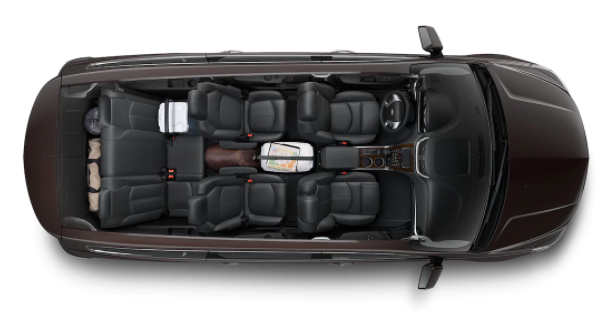 Inside of Chevy Traverse SUV