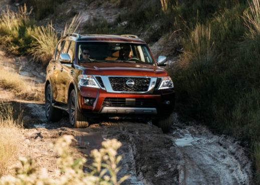 Nissan Armada off road - front view