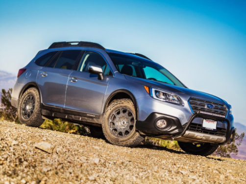 Subaru Outback off road - side view