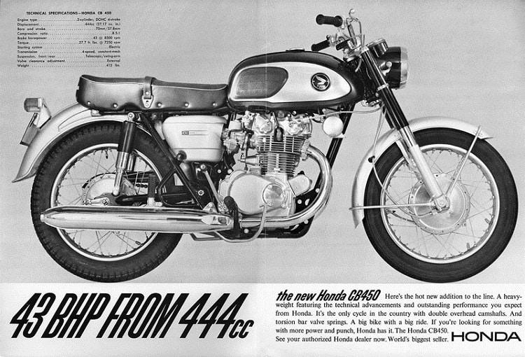 Vintage Honda Motorcycles - CB450 Ad
