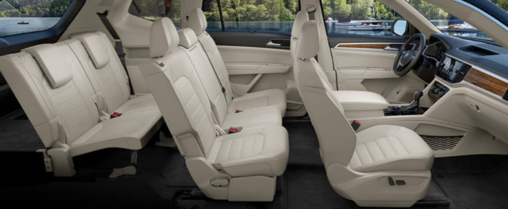 Volkswagon Atlas interior seating configuration
