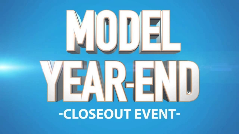 end of model year - closeout event