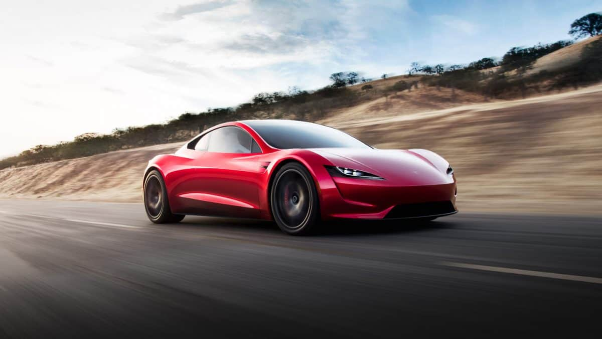 Tesla Upcoming Cars - Tesla Roadster 3/4 view likely due to arrive in 2020