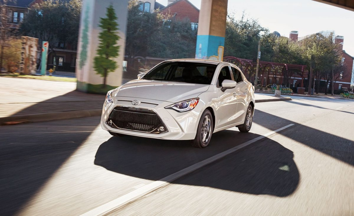 2019 Lineup - Toyota Yaris Sedan for 2019 front 3/4 view