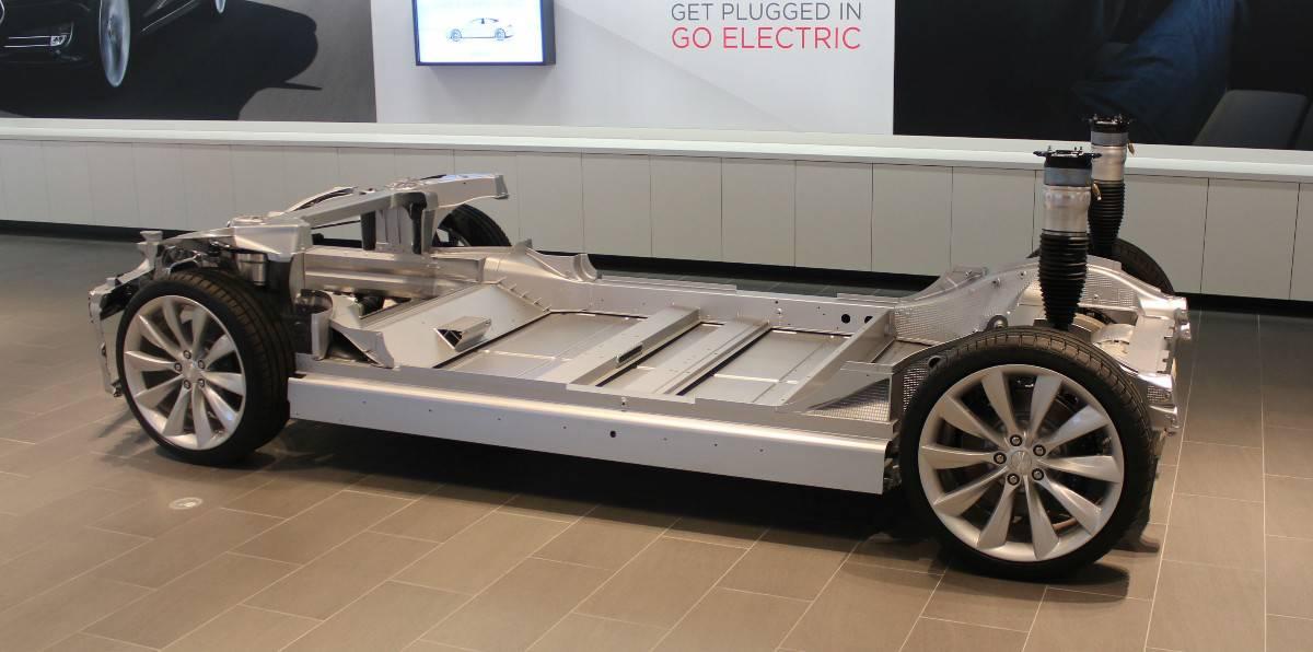 Tesla Model S floor - battery