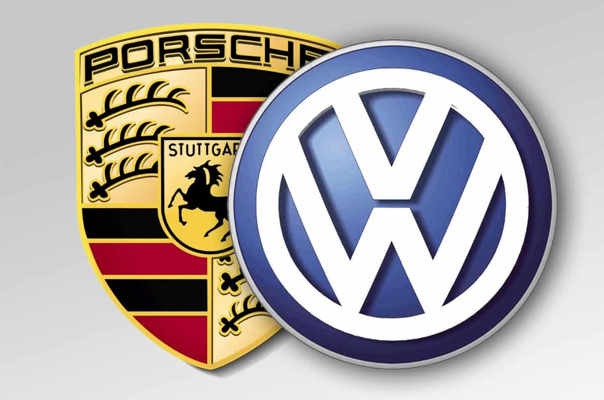 Volkswagen and Porsche - logos