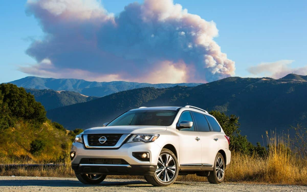 2019 Nissan Lineup - Nissan Pathfinder front 3/4 view