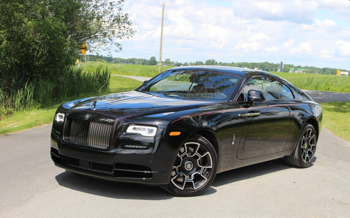 Rolls Royce Lineup - Wraith Black Badge 3/4 view