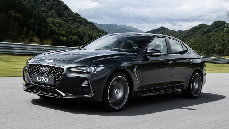 The Upcoming 2019 Genesis G70 Sedan 3 4 View