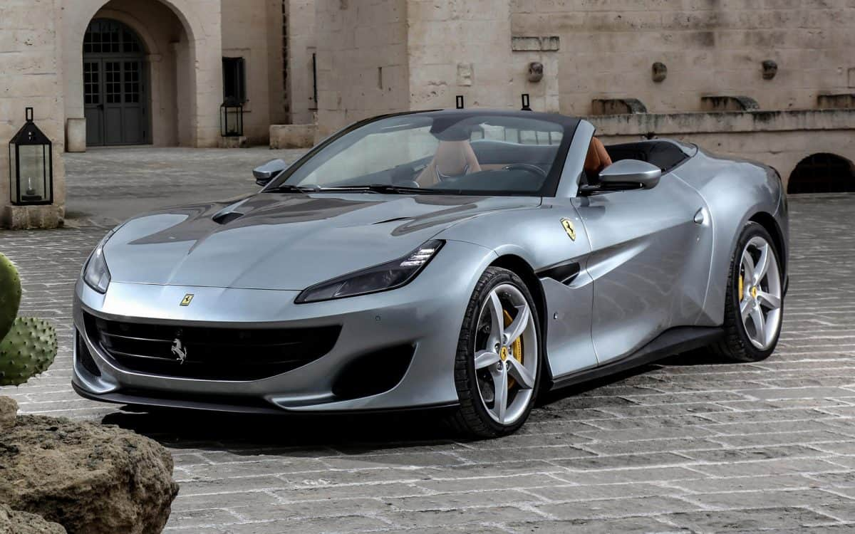 Ferrari Portofino open-top 3/4 view