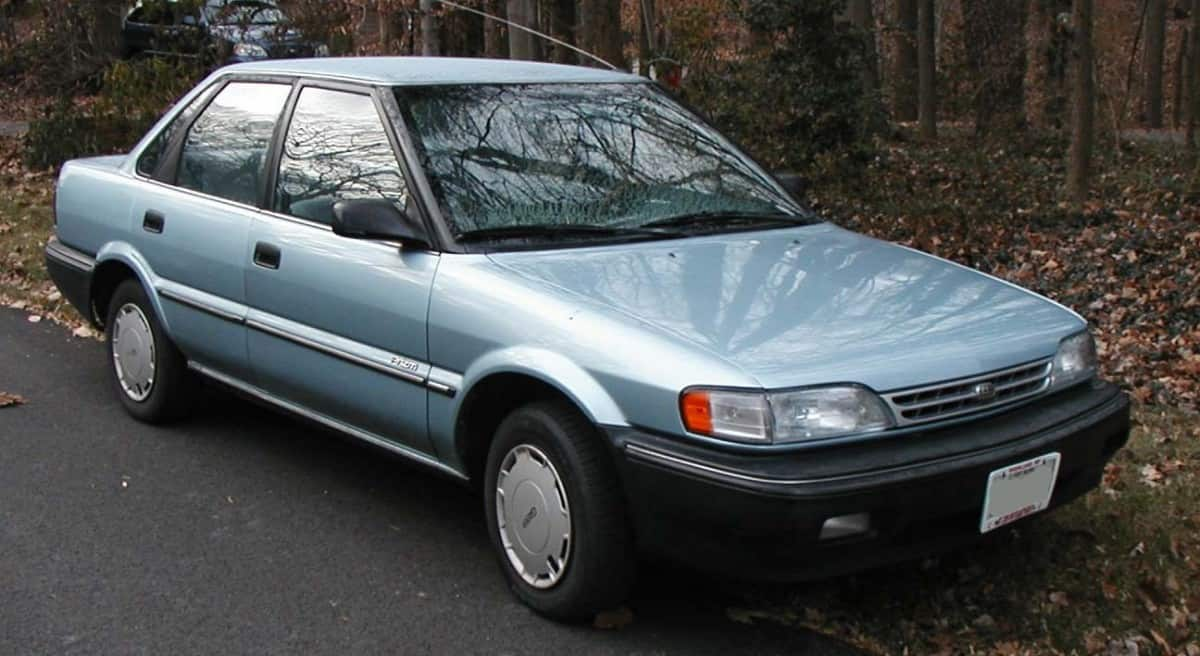 1990 Geo Prizm - right front view