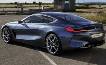 The BMW 8-Series rear 3/4