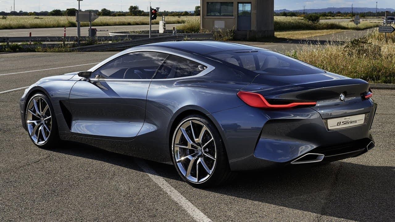 The BMW 8-Series rear 3/4