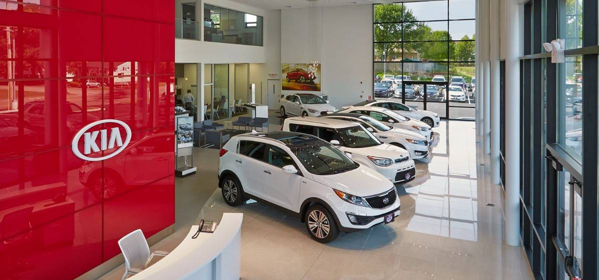 Kia Dealerships - inside view